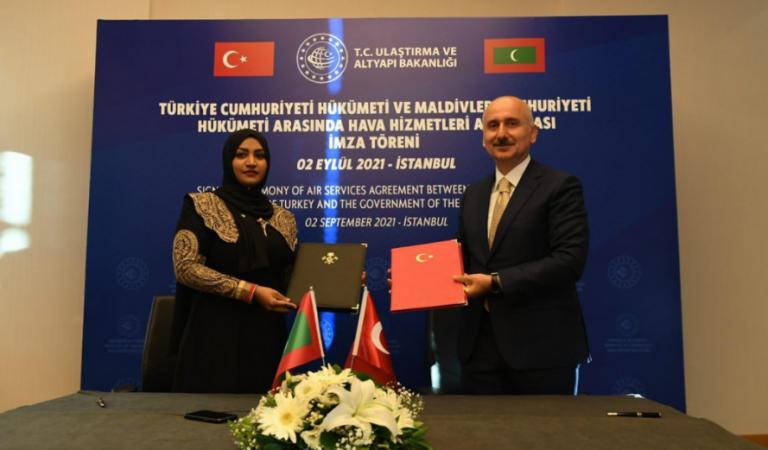 جزر المالديف وتركيا توقعان اتفاقية خدمات جوية