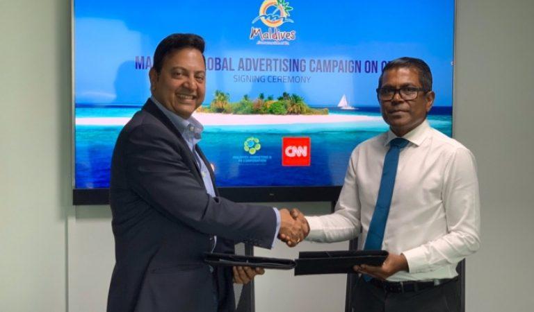 حملة دعائية أطلقتها شركة المالديف للتسويق على قناة CNN - Maldives