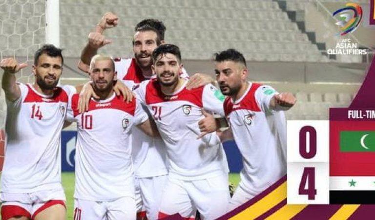 فوز منتخب سوريا على منتخب المالديف بأربع أهداف نظيفة
