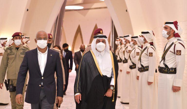 الرئيس صالح يختتم زيارته الرسمية لدولة قطر